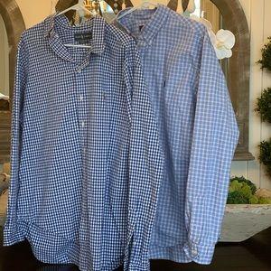 TWO Ralph Lauren XL button down collar shirts